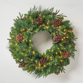 Grand Majestic Cordless Wreath