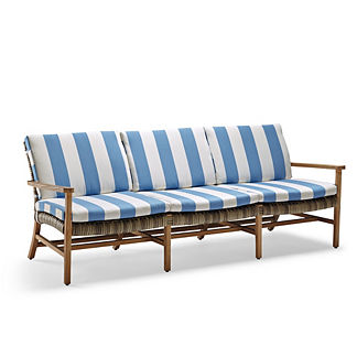 Isola Sofa Cushions in Resort Stripe Air Blue