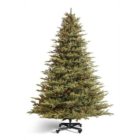 Grand Fraser Fir Inversion Artificial Pre-lit Christmas Tree ...
