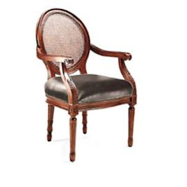 Ludlow Round Back Arm Chair in Walnut Finish