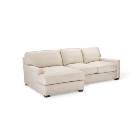Sawyer Linen Loveseat u0026 Chaise  sc 1 st  Frontgate : love seat with chaise - Sectionals, Sofas & Couches