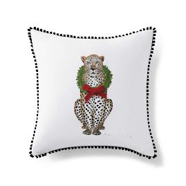 Festive Lennox Leopard Throw Pillow