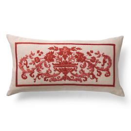 Aurelia Embroidered Decorative Lumbar Pillow