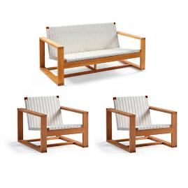 Laurent 3-pc. Sofa Set