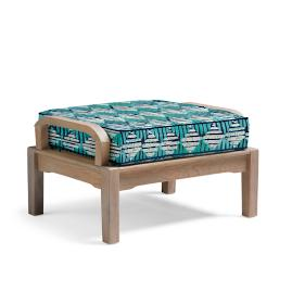 Cassara Ottoman with Cushion in Weathered Finish