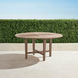 "Cassara 60"" Round Dining Table in Weathered Finish"