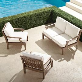 Cassara 3-pc. Loveseat Set in Weathered Finish