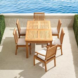 Cassara 7-pc. Extending Dining Set in Natural Finish
