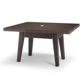 "Palermo 62"" Square Dining Table in Bronze Finish"