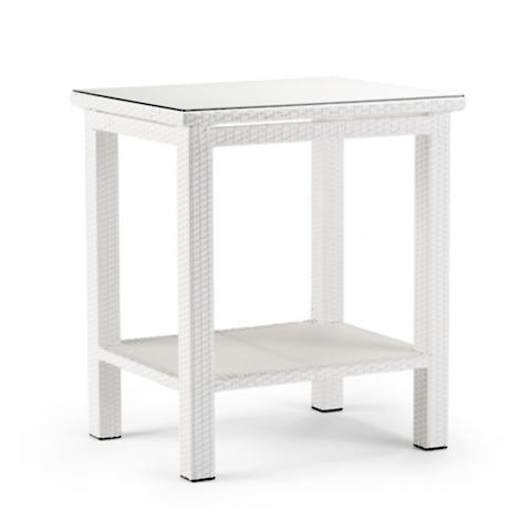 Palermo Counter Height Bar Table In White Finish