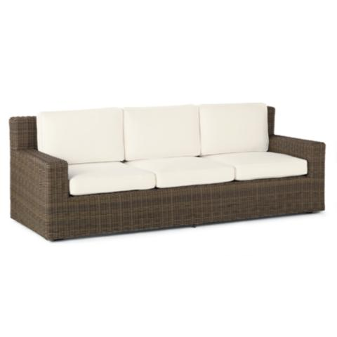 Hyde Park Sofa with Cushions in Ocean Grey Finish - Hyde Park Sofa With Cushions In Ocean Grey Finish Frontgate