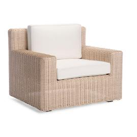Hyde Park Lounge Chair with Cushions in Ivory