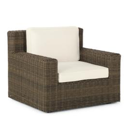 Hyde Park Lounge Chair with Cushions in Ocean