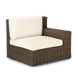 Hyde Park Right-facing Arm Chair with Cushions in