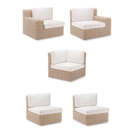 Hyde Park 5-pc. Modular Set in Ivory Finish