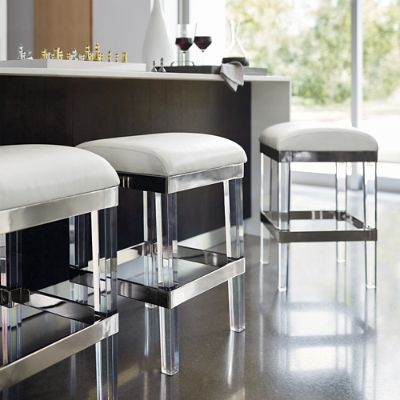 Fulham Acrylic Backless Bar Stool Frontgate