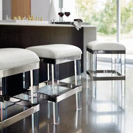 Fulham Acrylic Backless Bar Stool