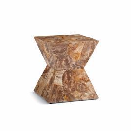 petrified wood pedestal table