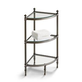 Belmont 3-Tier Corner Etagere - Black Nickel