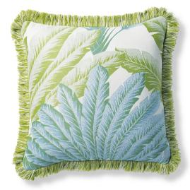 Atherton Palm Seaglass Outdoor Pillow