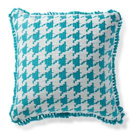 Houndstooth Fun Aruba Indoor/Outdoor Pillow