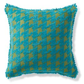 Houndstooth Fun Lagoon Outdoor Pillow
