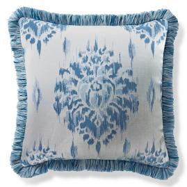 Java Crest Cobalt Outdoor Pillow