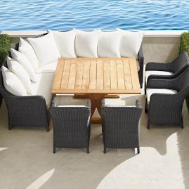 Beaumont 8-pc. Dining Set in Charcoal Finish