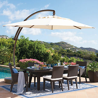 9' x 12' Oval European Side Mount Umbrella