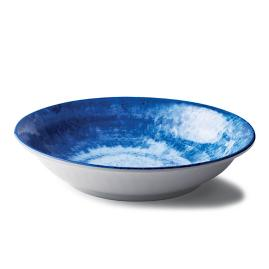 Reactive Blue Serving Bowl