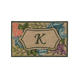 Trapunto Monogrammed Entry Mat Frontgate