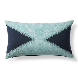 Atlantic Tile Indigo Outdoor Lumbar Pillow