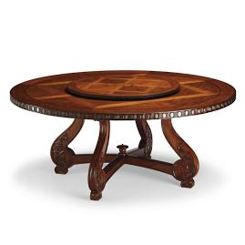 Cannes Pedestal Table with Lazy Susan