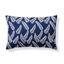 Fern Indigo Outdoor Lumbar Pillow