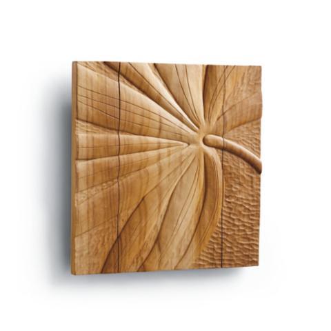 Palm leaf teak wall art