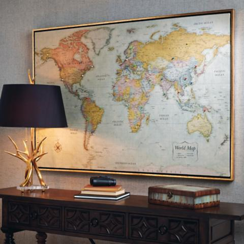 Heirloom antiqued linen map frontgate heirloom antiqued linen map gumiabroncs Choice Image