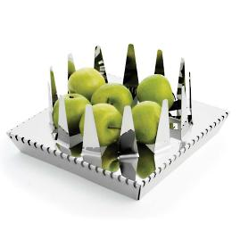 Filo Square Fruit Holder Tray by Porta Forma