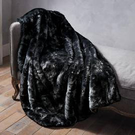 Luxury Faux Fur Throw in Panther