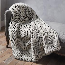 Luxury Faux Fur Throw in Shag Diamond