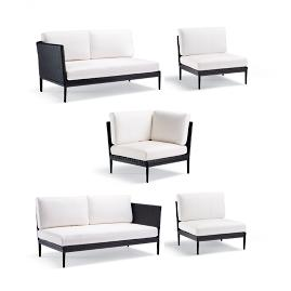 Palazzo Carbon 5-pc. Modular Set by Porta Forma