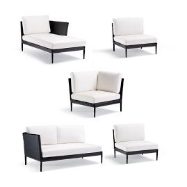 Palazzo Carbon 5-pc. Right-facing Chaise Set