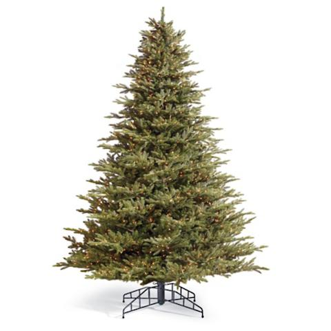fraser artificial pre lit christmas tree - Pre Lit Christmas Trees