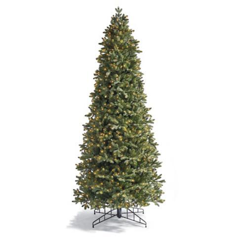 Le Slim Artificial Pre Lit Christmas Tree