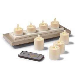 Rechargeable Tea Light Dream Candles, Set of Eight