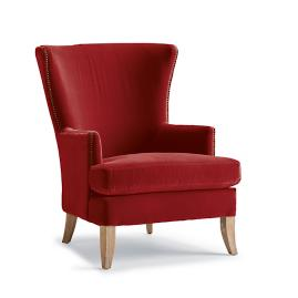 Jeffrey Upholstered Chair in Paprika Velvet