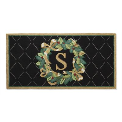 Winter Wreath Holiday Mat Frontgate