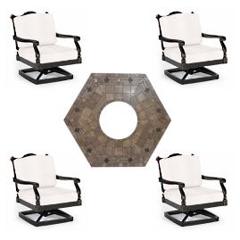 Glen Isle 5-pc. Provenca Fire Chat Set in