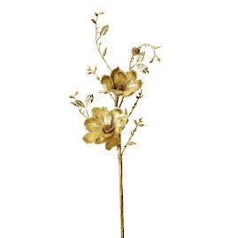 Metallic Gold Magnolia Branches, Set of Six