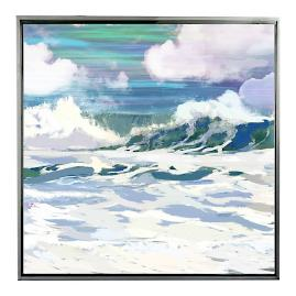 Salt Water Wave II Framed Outdoor Canvas