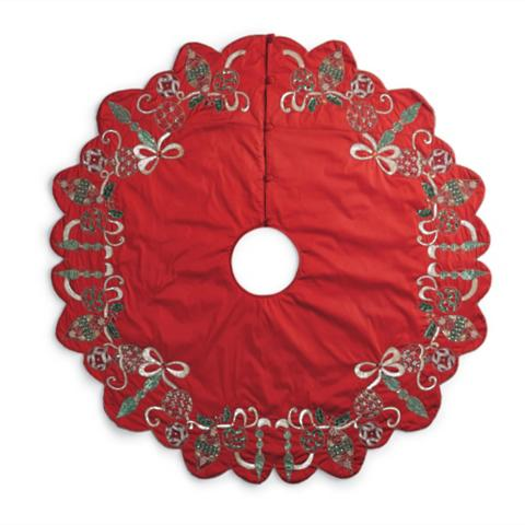 Kim Seybert Holiday Tree Skirt